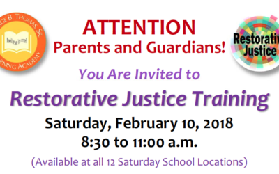 Parent Workshop this Saturday – February 10, 2018