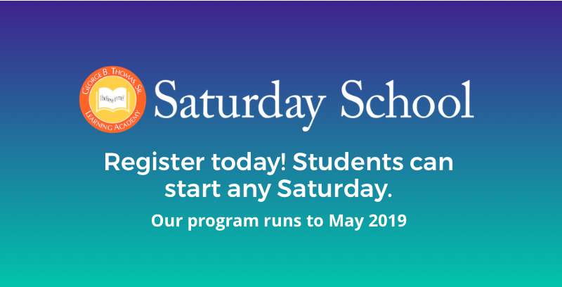 Register for Saturday School 2018-2019