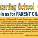 Parent Training on March 7, 2020:  Join us for a Parent Chat